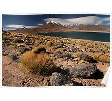 Lagoon and Volcanoes Atacama Desert - Chile Poster
