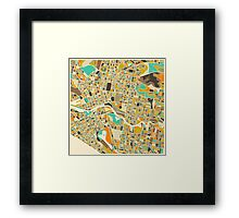 MELBOURNE MAP Framed Print