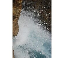 Wave Crashing on Rocks - Forster, NSW. Photographic Print
