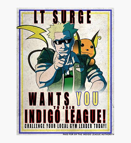 Lt. Surge Wants You! Photographic Print
