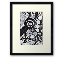 black n white + grey #1 Framed Print