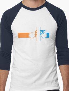 Bike Stripes Portal Men's Baseball ¾ T-Shirt