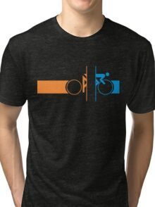 Bike Stripes Portal Tri-blend T-Shirt