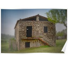 Old Farm Cottage  in Italy Poster