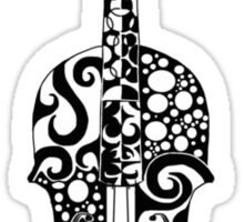 Black and White Violin Zentangle Sticker