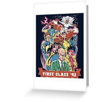 FIRST CLASS 92 Greeting Card