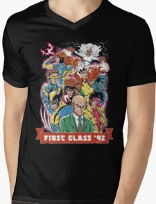 FIRST CLASS 92 Mens V-Neck T-Shirt