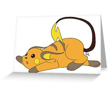 Cute Raichu Greeting Card