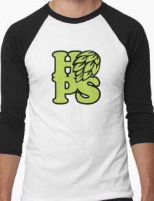Craft Beer HOPS! Men's Baseball ¾ T-Shirt