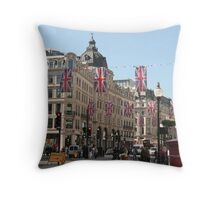 London in Full Colour Throw Pillow