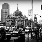 Flinders Street 0800 by Rosemary Scott