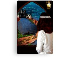 She Looked Over Camelot Canvas Print