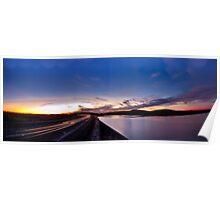 Lake Wivenhoe panoramic Poster