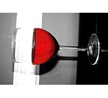 Glass of Red Photographic Print
