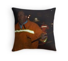 Marching with torch Throw Pillow