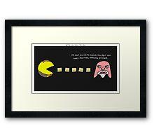 Better Call Saul + Pac-Man Framed Print