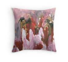 Rasberry Sorbet Mountains Throw Pillow