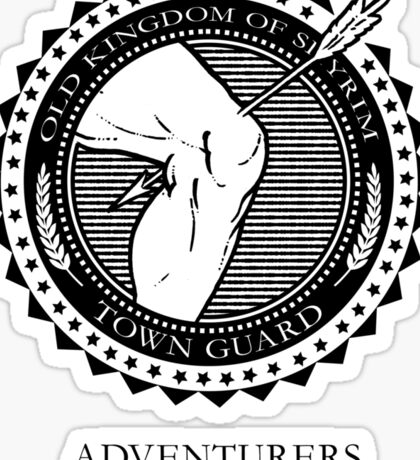 Town Guards Sticker