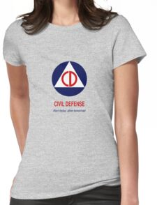 Civil Defense - Alert today, alive tomorrow! Womens Fitted T-Shirt