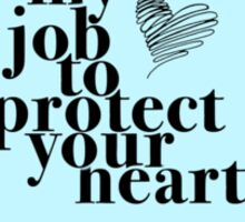 Protect Your Heart Typography Sticker