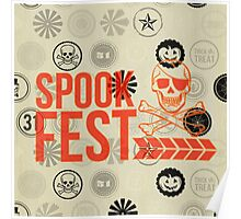 rustic,grey,halloween,vintage,victorian,pattern,grunge,scary,graphic design Poster