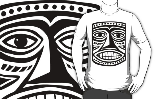 Tiki Mask II - Black by Artberry