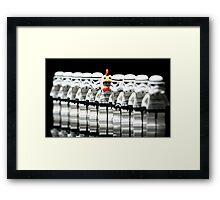 Stormtrooper lego Framed Print