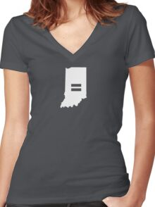 Indiana Equality Women's Fitted V-Neck T-Shirt