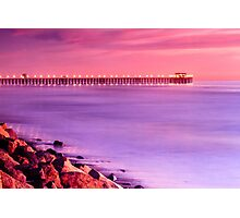 Sunset at Oceanside Pier Photographic Print