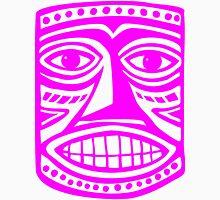 Tiki Mask II - Magenta Unisex T-Shirt