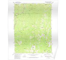 USGS Topo Map California Broken Rib Mtn 288619 1982 24000 Poster