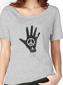 Human Touch, Peace & Love  Women's Relaxed Fit T-Shirt