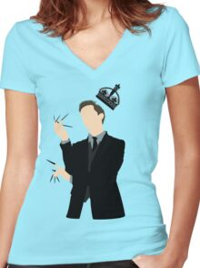 It's Good to be King - Nikola Tesla Women's Fitted V-Neck T-Shirt