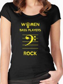 Women Bass Players Rock Women's Fitted Scoop T-Shirt