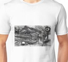 Flying Hand Creatures Fighting Giant Eye In The Sky Unisex T-Shirt