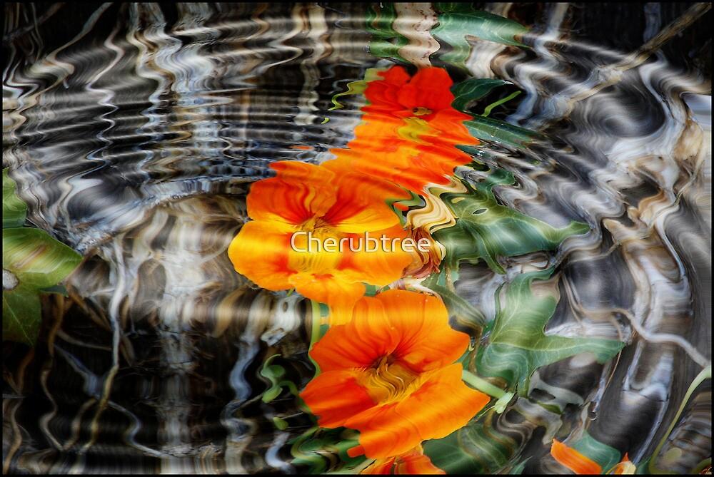 Orange Wildflowers in the Forest: by Cherubtree
