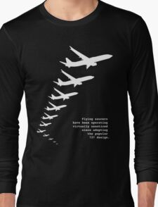 Flying Saucers as 737s Long Sleeve T-Shirt