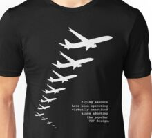 Flying Saucers as 737s Unisex T-Shirt