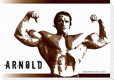 Arnold Schwarzenegger - Front Double Biceps by celebrityart