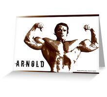 Arnold Schwarzenegger - Front Double Biceps Greeting Card