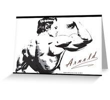 Arnold Schwarzenegger - Rear Bicep Shot Greeting Card