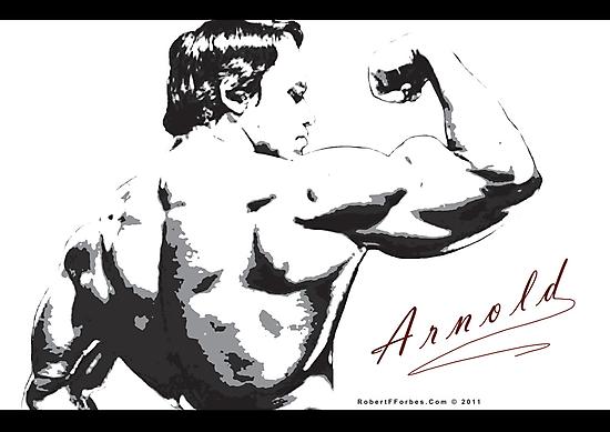 Arnold Schwarzenegger - Rear Bicep Shot by celebrityart