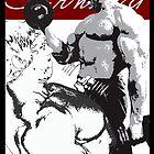 Arnold Schwarzenegger - Training Arms by celebrityart