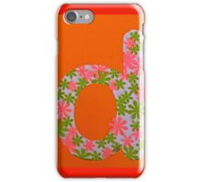 Letters of the alphabet D iPhone Case/Skin