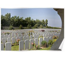 French war cemetery Poster