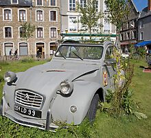 Car garden in Boulogne France by Keith Larby