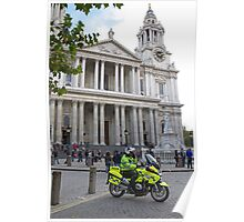 The front steps of St Pauls Cathedral Poster