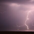 Lightning, Hampshire Coast, UK by Jane Burridge