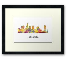 Atlanta, Georgia Skyline WB1 Framed Print