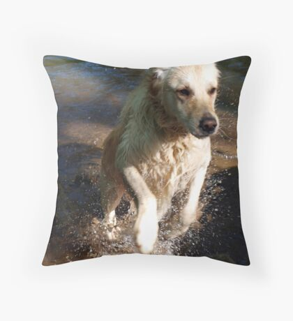 Leaping George Throw Pillow